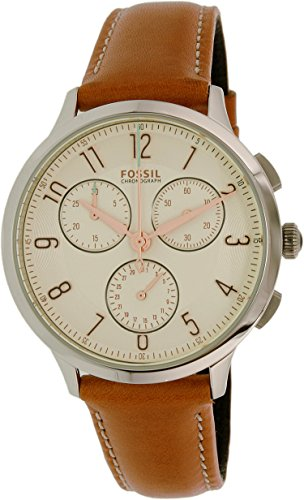 fossil women watches brown dial - 1
