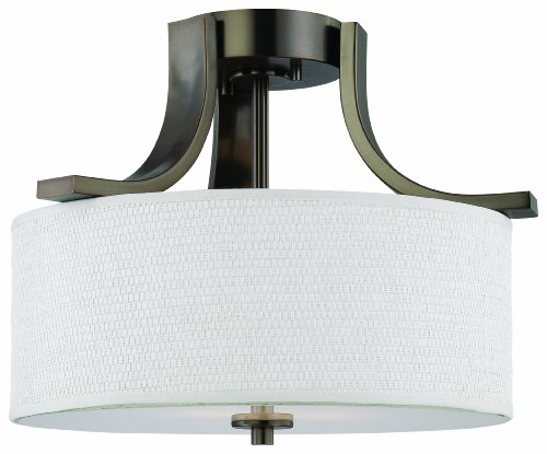 Thomas Lighting SL860915 Pendenza Collection 2 Light Semi-Flush, Oiled Bronze