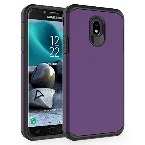 Case for Samsung Galaxy J7 2018 / J7 V 2nd Gen / J7V 2018 / J7 Refine / J7 Star / J7 Aero / J7 Top / J7 Crown / J7 Aura / J7 Eon, SYONER [Armor] Shockproof Protective Phone Case [Purple]