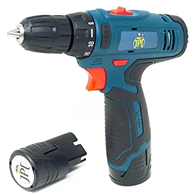 JPT HEAVY DUTY 12V CORDLESS DRILL/SCREW DRIVER WITH 2 BATTERIES 8