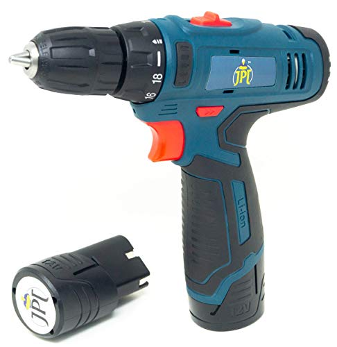 JPT HEAVY DUTY 12V CORDLESS DRILL/SCREW DRIVER WITH 2 BATTERIES 1