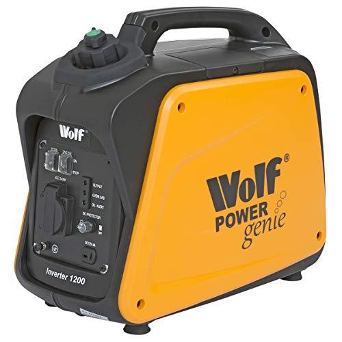 Wolf Petrol Inverter Suitcase Generator 1200w 4HP 4 Stroke Silent Portable Caravan Camping...