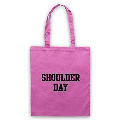 Slogan Bodybuilding Giorno Allenamento Bolso Spalla Rosa 7x88qatwE