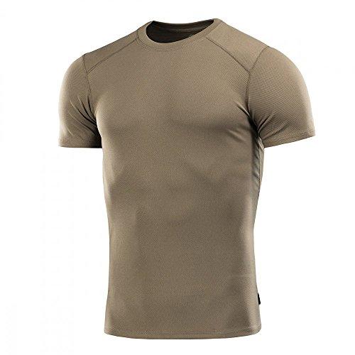 M-Tac Shirt for Men Tactical Athletic T-Shirt Round Neck Short Sleeve (Olive, L)