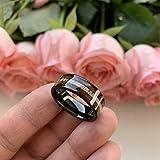 iTungsten 8mm Black Tungsten Carbide Rings for Men