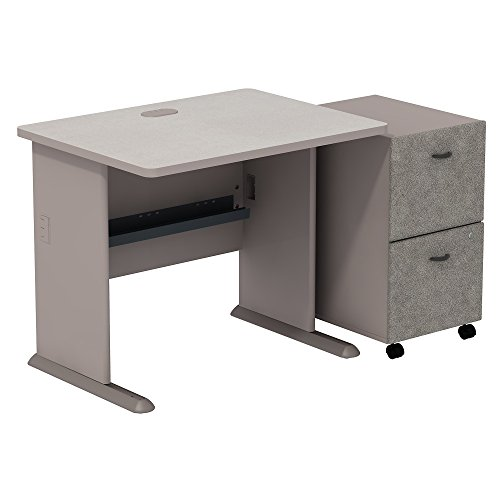 Bush Business Furniture Series A 2 Drawer Mobile Pedestal Desk, 36