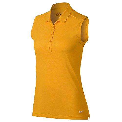 Nike Icon Sleeveless Heather Golf Polo 2017 Women Laser Orange/Heather/White tzsLgapr