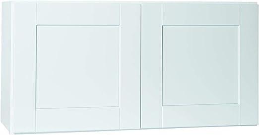 Amazon Com 36x18x12 In Shaker Wall Bridge Cabinet In Satin White