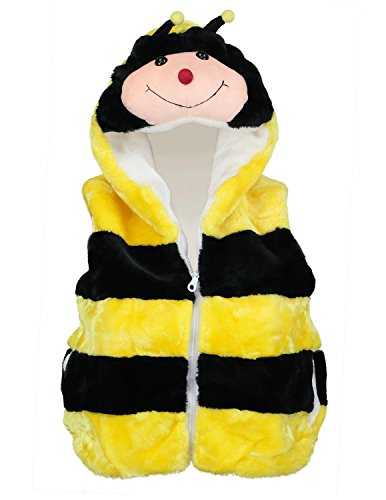 Animal Vest Fashion Hoody Costume For Kids - Bumble Bee Youth Medium