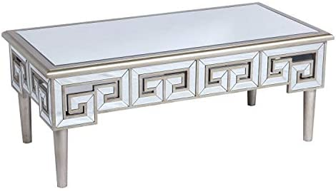Emerald Home T425-00 Heritage 47 Inch Mirror Top Rectangle Accent Coffee Table
