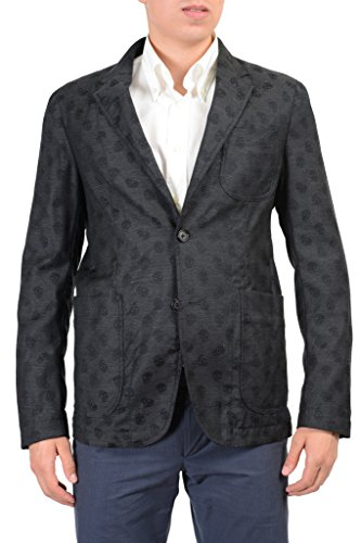 Alexander McQueen 100% Wool Gray Skull Patterned Men