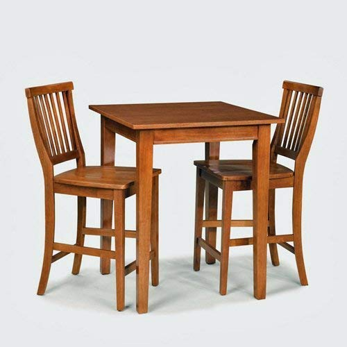 Home Style 5180-359 Arts and Crafts 3-Piece Bistro Set, Cottage Oak - & Crafts Oak Table Arts