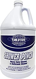 Shower Power - Powerful Bathroom Cleaner From Concentrate - Tub and Shower Cleaner - Cleans Tubs, Toilets, Urinals, Fixtures & More-1 Gal.