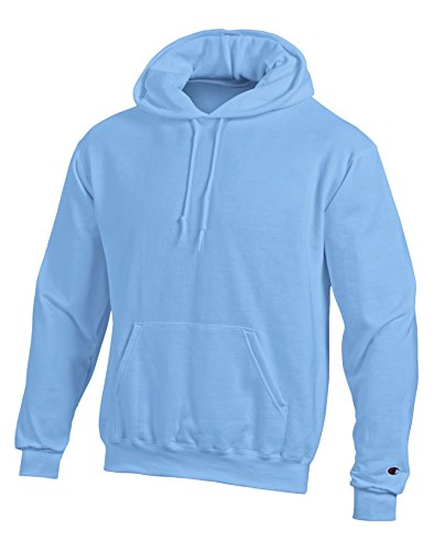 Champion Double Dry Action Fleece Pullover Hood S700, L, Light Blue