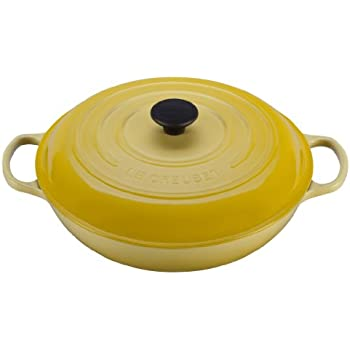 Le Creuset Signature Enameled Cast-Iron 1-1/2-Quart Round Braiser, Soleil