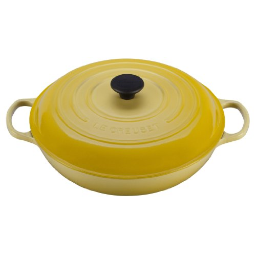Le Creuset Signature Enameled Cast-Iron 5-Quart Round Braiser, Soleil