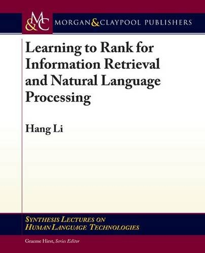 Learning to Rank for Information Retrieval and Natural Language Processing (Paperback)-cover