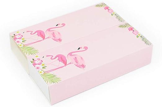 TOYANDONA Diez cajas de Flamingo,cajas de bufanda,artículos de ...
