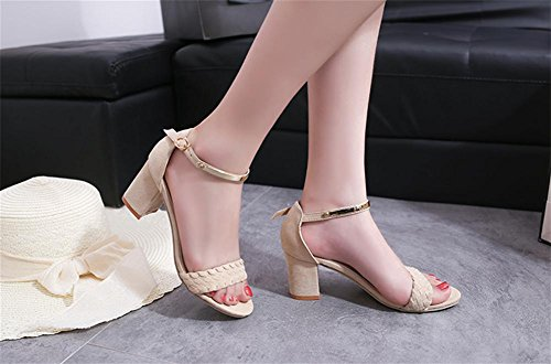 ¨¢speras Las La Sandalias Moda Con Zapatos Te Romanos Hebilla Del De Pie Mujeres Pengweila Dedo Palabra i¨® Los Verano 0FxPv8