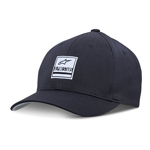 rved Bill Structured Crown Flex Back Bonded Woven Logo Label Flexfit Hat, Stated Black, L/XL (Logo Flex Hat)