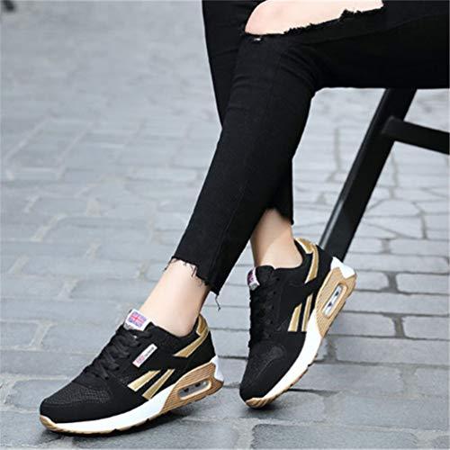 Summer Pink Mesh Female Shoes Sneakers Casual Basket Women Breathable Light Black 3c Footwear Red Qianliuk Running Cqw0IEgx
