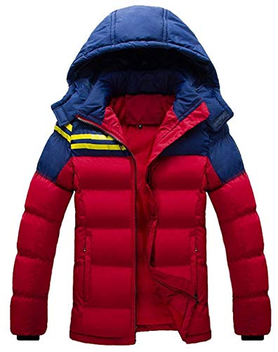 Men's Winter Down Jacket Hooded Coat Thick Long Sleeve Leisure Warm Young Fashion Outdoor Quilted Jacket Down Coat Outerwear Rot
