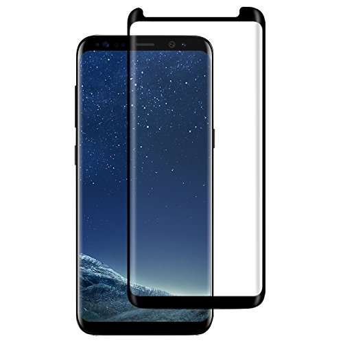 GLASS-M Galaxy S8 Plus Tempered Glass Screen Protector, 3D Full Coverage Case Friendly Strong Adhesion High Sensitivity 9H Hardness Screen Saver