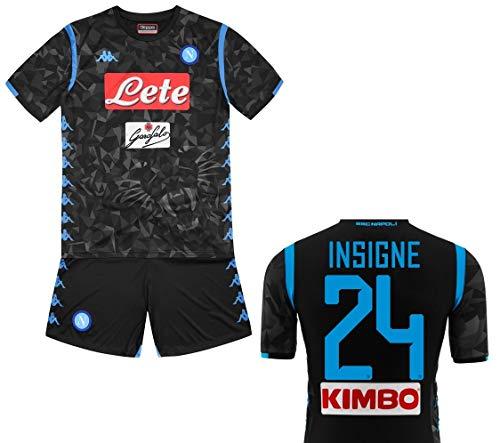 Kappa SSC Napoli Insigne Junior Away Black Kit 2018-2019 Original (YXL 12  Years 82d749609dd28