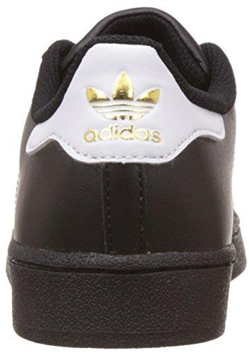 adidas Superstar C, Zapatillas de Deporte Interior Unisex Niños Negro (Negro/(Negbas/Ftwbla/Negbas) 000)