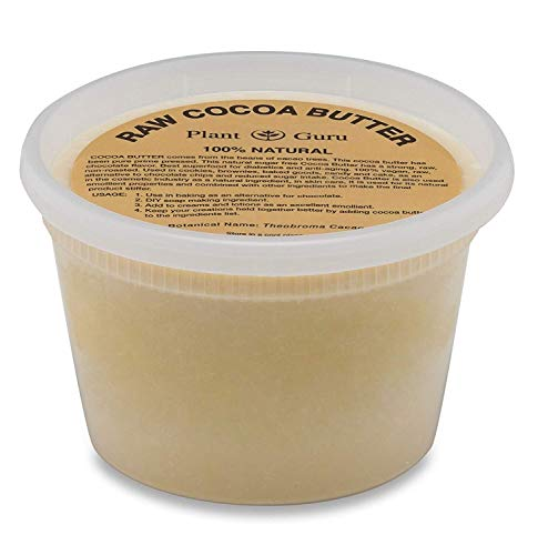 Raw Cocoa Butter 14.5 oz. Pure 100% Unrefined FOOD GRADE Cacao Highest Quality Arriba Nacional Bean, Bulk Rich Chocolate...