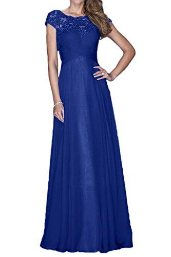 Ballkleider Braut Blau Partykleider Royal A Spitze Bodenlang Abendkleider Anmutig mia Chiffon Brautmutterkleider La Linie Rock n0F65q8wB