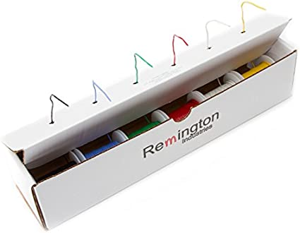 60 Volts 0.0508 Diameter Remington Industries 16 AWG Gauge GPT Marine Stranded Hook Up Wire 10-Color Kit 0.0508 Diameter 25 ft Length Each UL1426