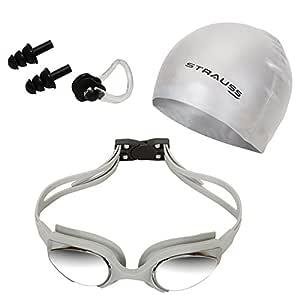 Strauss Swimming Goggles Set (Grey)