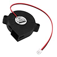 DierCosy Durable DC 12V 50mm Cooling Fan Blow Radial Hotend/Extruder For 3D Printer office work D printing parts and accessories by DierCosy