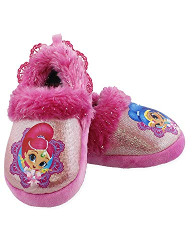 Shimmer and Shine Toddler Girls Plush Aline Slippers (11-12 M US Little Kid, Pink)
