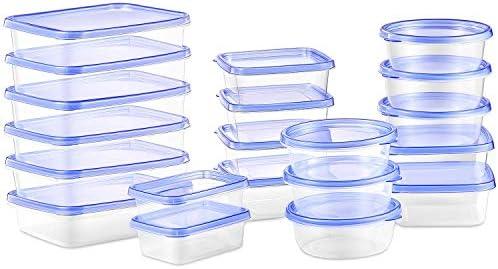 Deik Recipientes para Alimentos con Tapa, Conjunto Apilable de 20 Piezas, Sin BPA, Certificado LFGB, Apta para Lavavajillas y Microondas, Tamaño Diverso: Amazon.es: Hogar