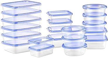 Deik Boîte Alimentaire, Lot de boîte de Conservation Alimentaire Plastique, 20 pièces, Convient pour Lave-Vaisselle...
