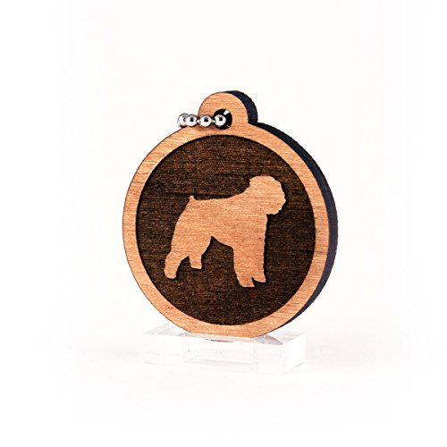 Sunset Design Lab Bouvier des Flandres for AKC Dog Pet American Kennel Club Wood Laser Cut Keychain Charm Ornament ()