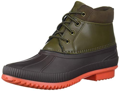 Tommy Hilfiger Men's CELCIUS2 Rain Boot, Brown/Olive, 9 M US