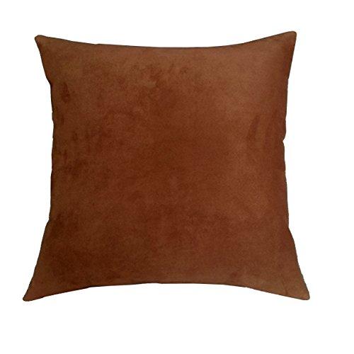 RM43 R&M Industries dba Edie 20x20 Passion Suede Decorative Toss Pillow,  Medium, Copper