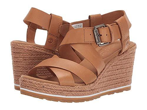 Timberland Women's Nice Coast Ankle Strap Sandal Medium Beige Full Grain 9 B US