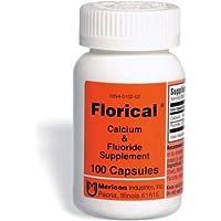 Florical Calcium & Fluoride Supplement Capsules - 100 Capsules, Pack of 2
