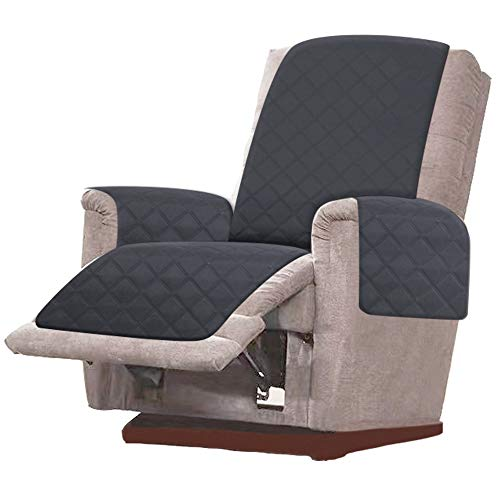 RHF Diamond Oversized Recliner Cover & Oversized Recliner Covers, Slipcovers for Recliner, Recliner Covers for Large Recliner, Recliner Chair Covers, Double Diamond (Recliner-Oversized:Charcoal/Beige) (Sofas Cool Sectional)