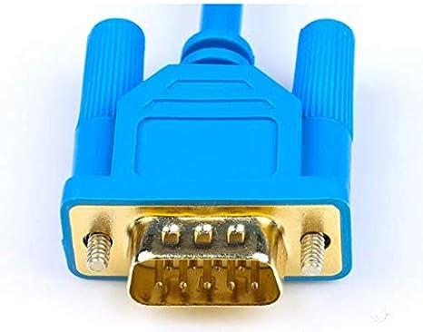 USB-XW2Z-200S-CV+ Blue for CS CJ Series PLC Programming Cable//Data line USB-XW2Z-200S-CV 9-pin Download line