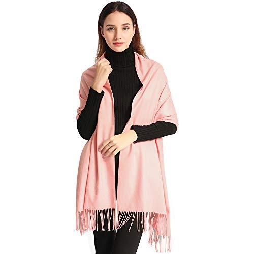 Pashmina Scarf Women Soft Cashmere Scarves Stylish Large Warm Blanket Solid Winter Shawl Elegant Wrap 78.5