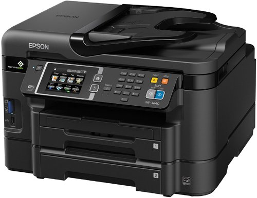 Epson WorkForce WF-3640 Wireless Color All-in-One Inkjet Printer with Scanner and Copier, Amazon Dash Replenishment Enabled by Epson