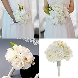 BROSCO Artificial Silk Flower Rose Orchids Wedding Bridal Bouquet Party Supplier 107