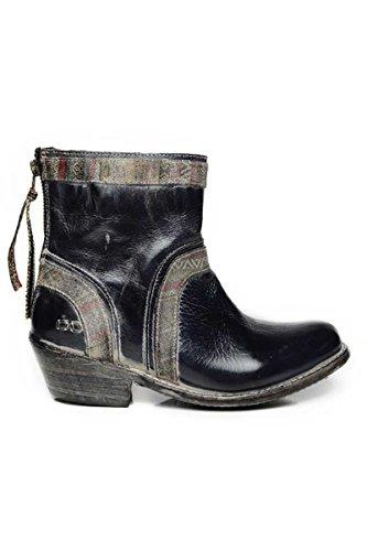 - Bed|Stu Women's Binary Boot, Black Rustic/White, 7 M US