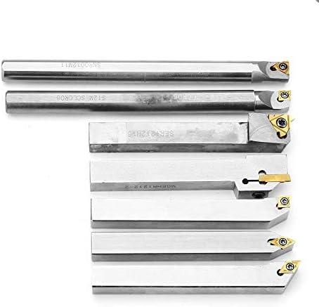 Lathe Turning Tool Lathe Tool Set Carbide Insert+Wrench Set +Upgrade 21pcs 12mm Turning Tool Holder Lathe Boring Bar