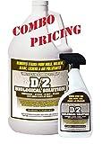 D2 Biological Solution 1 Gallon / (1) 32 oz Quart Spray Bottle Combo Pack